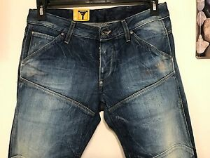 9ba81c931a7 G-STAR RAW 5620 3D Low Tapered Jeans Men Medium Aged Destroy Maldon ...
