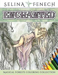 Image Is Loading Fantasy Art Coloring Books For Adults Enchanted Magical