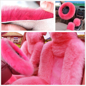 5Pcs-Furry-Genuine-Australian-Sheepskin-Fur-Car-Seat-Covers-Interior-Accessories