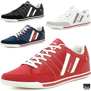 Image is loading Alpine-Swiss-Stefan-Mens-Retro-Fashion-Sneakers-Tennis-