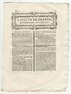 1769-jan-9-Original-French-Gazette-Charles-Town-Letters-East-India-Company