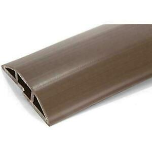 2 Meters 6 Feet 6 Inches Brown PVC Floor Cord Protector in Length Flexi...
