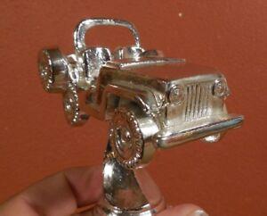 Vintage-JEEP-CJ-5-7-Willys-Jeep-4-x-4-Truck-Chrome-Metal-Trophy-Top-Mascot