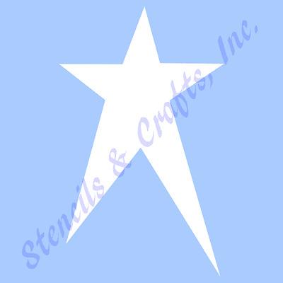 "4 1/2"" PRIMITIVE STAR STENCILS TEMPLATES CRAFT STARS CELESTIAL TEMPLATE #2 NEW"