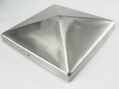 Pfostenkappe Edelstahl Pyramide Kappe VA Abdeckkappe für Pfosten V2A  Zaunkappe