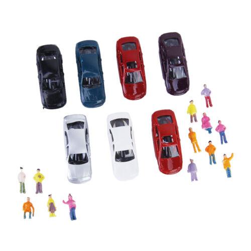 50X Angestrichen Modell Autos Modellautos1:150 100X Bemalte Modell