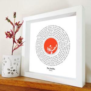 Panic framed song lyrics The Smiths Morrissey Johnny Marr artwork