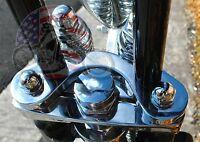 Springer Handlebar Tree Adapter Top Clamp 3.5 Wide Risers Harley Dna Paughco