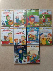 PBS Kids Caillou 10 DVD Set Lot Holiday Movie Garden ... Caillou Family Collection Dvd Ebay