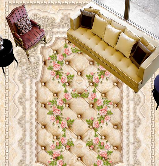 3D Luxury Rose Art 60 Floor WallPaper Murals Wallpaper Mural Print AJ AU Lemon