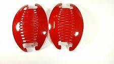 2 set Jumbo Banana Comb Clip Thick Hair Riser Claw Interlocking Jaw Extra (Red).