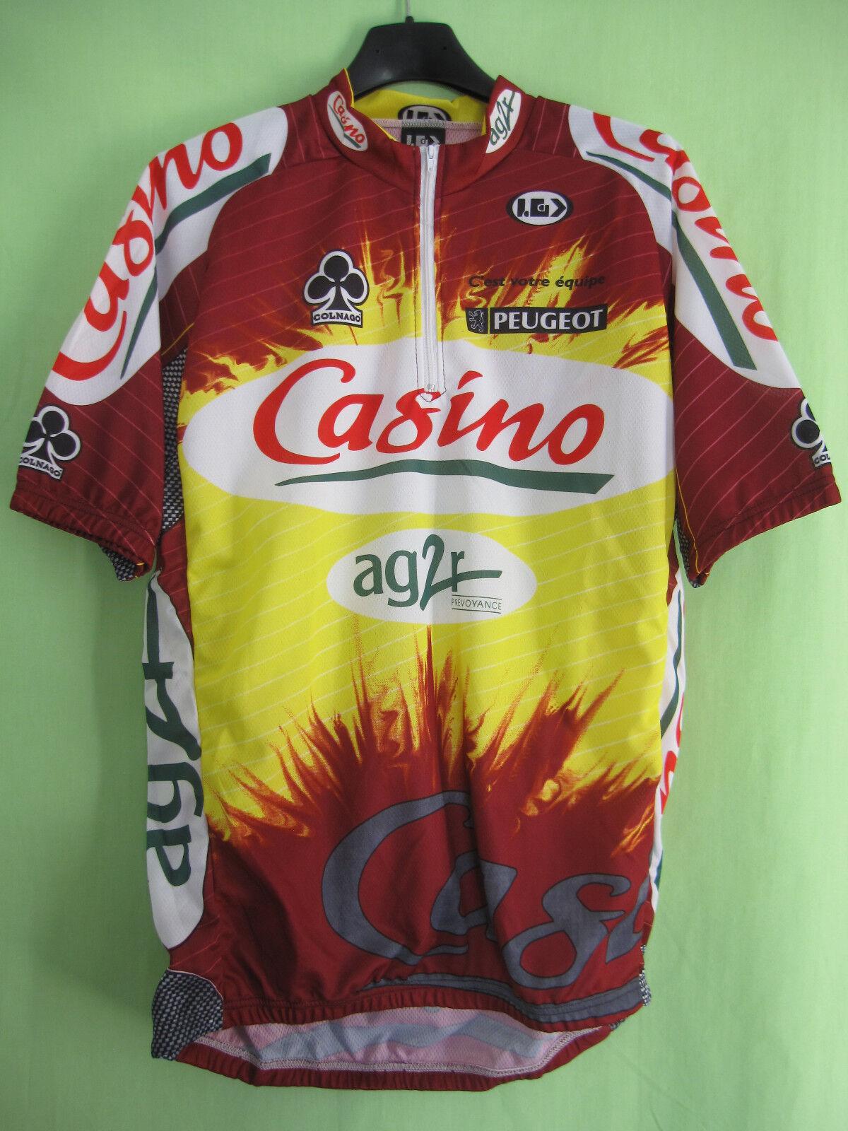 Maillot cycliste Casino Ag2r Tour 1998 Colnago Peugeot vintage jersey - XL