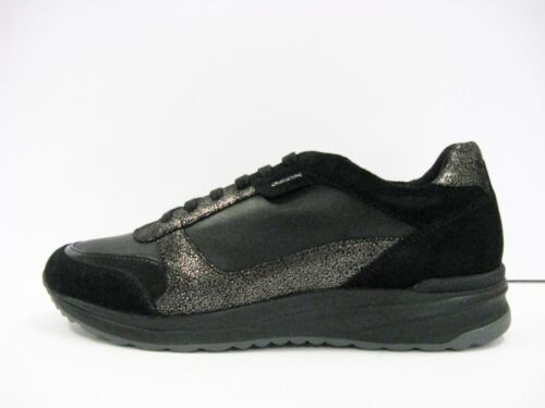 GEOX D642SC AIRELL scarpa donna geobuck e camoscio nero suola gomma traspirante