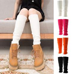 Damen Gestrickte Socken Beinlinge Beinstulpen Beinwärmer Stiefelsocken