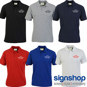 Custom Embroidered Polo Shirt Personalised With Your Text Or Logo