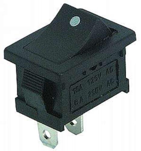 schwarz 19x13 EIN//AUS Wippenschalter mit Punkt 12V-230V  S47S einpolig