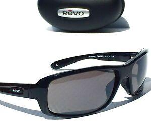 84e11d979f5 NEW  REVO CAMBER BLACK w POLARIZED Graphite Grey Sunglass 4064-05