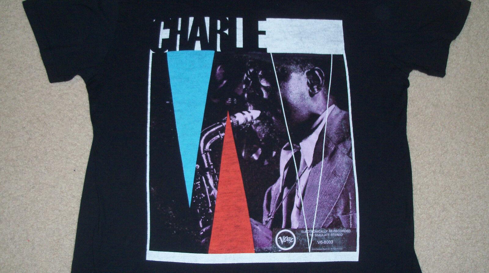 Older CHARLIE BIRD PARKER ON VERVE T-Shirt XL Bravado Jazz Saxophone 1990s