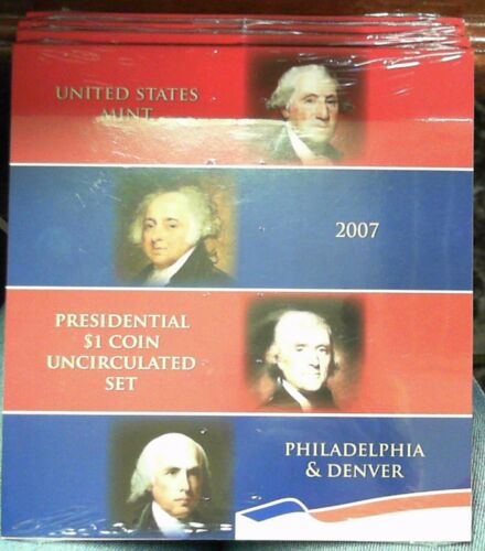 2007 US MINT PRESIDENTIAL $1 COIN UNCIRCULATED SET FROM BOTH P/&D MINTS UNOPENED