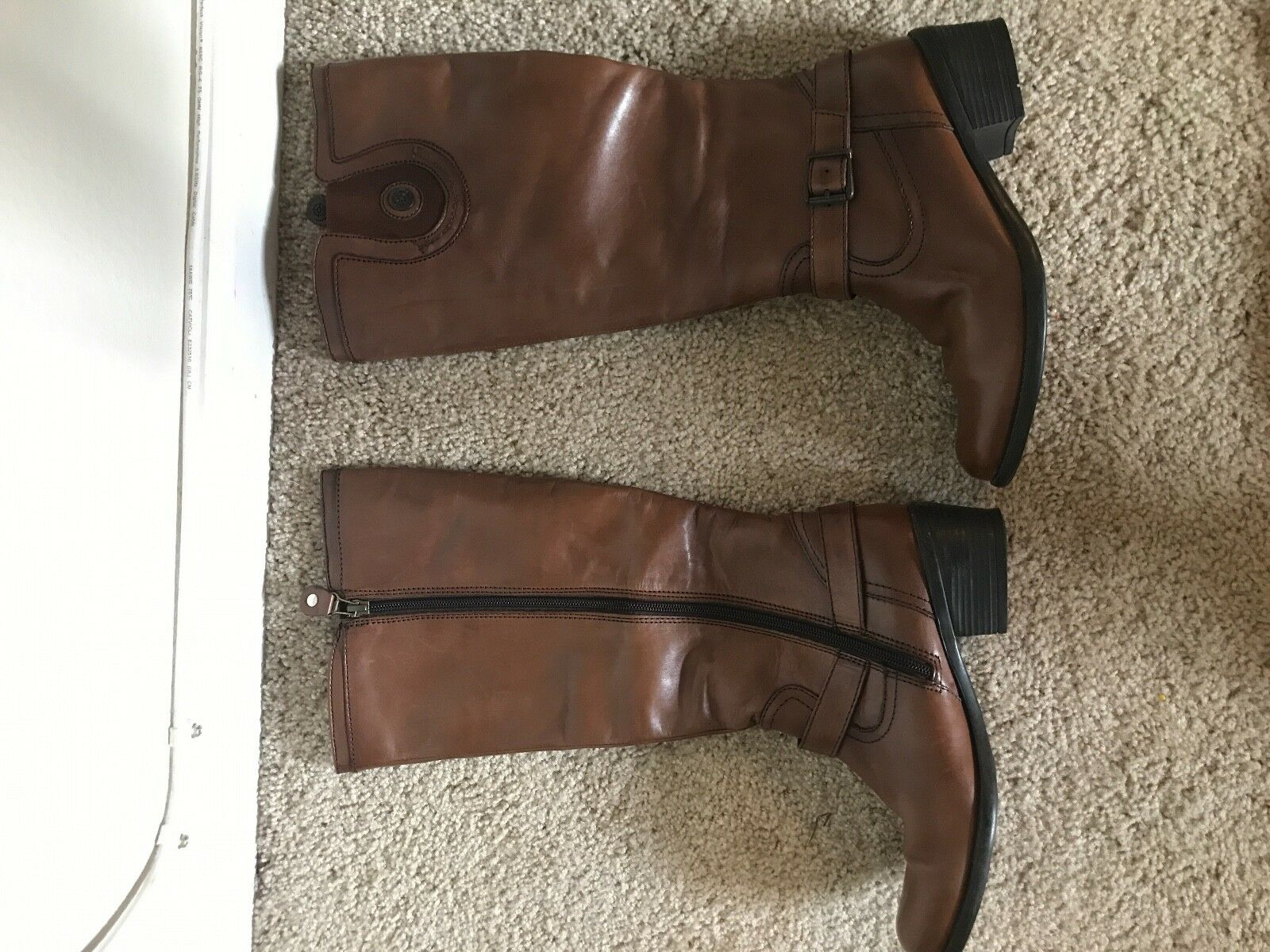 Bussola, Worn Gently, Sz 6.5 37, Knee high Brown Boot