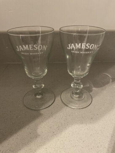 X2 RARE JAMESON IRISH WHISKEY GLAS BRAND NEW FREE P/&P