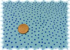 Russian Dot Sweatshirtstoff aqua blau Hilco Punktesweat 50 cm