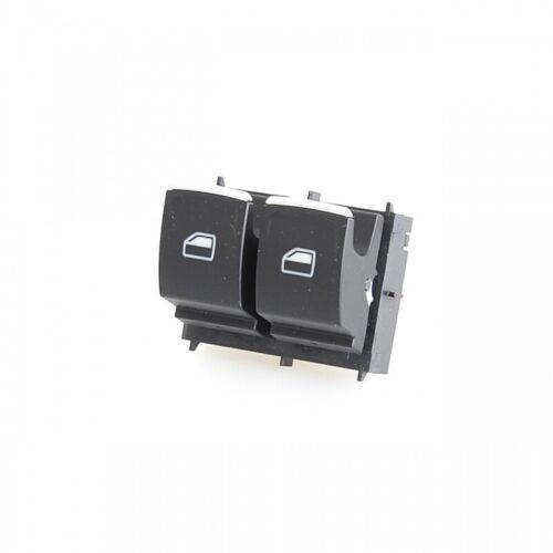 Schalter für elektrischen Fensterheber 2 fach satinschwarz//alu 5G0959858C WZU