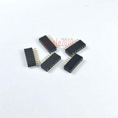 4.6mm 10Pcs 1.27mm Pitch 4 Pin Female Straight Single Row Pin Header Strip PH