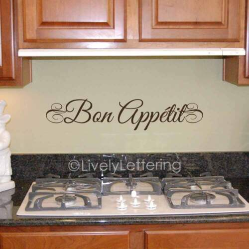 BON APPETIT wall decal Dining Room quote French Kitchen vinyl lettering sticker