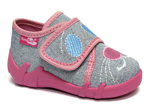 Girls canvas shoes slippers trainers sandals baby kids toddler size 3-9 UK
