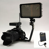 Pro 4k 2 Wlm Video Light + Wireless Lavalier Mic For Canon 7d Mark Ii Rebel T3i