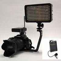 Pro 4k 2 Wlm Video Light + Wireless Lavalier Mic For Canon Vixia Hf G40 G30 G20