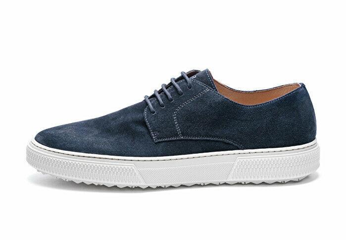 Frau hombres zapatos azul Suede 28C0