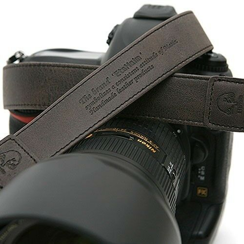 Vintage-30 DGrey SLR Camera Shoulder Leather Strap Canon Nikon Sony Olympus i
