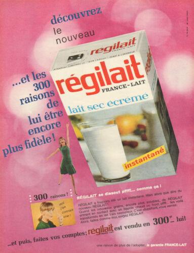 Publicité Advertising 1966  REGILAIT lait sec écrémé FRANCE LAIT