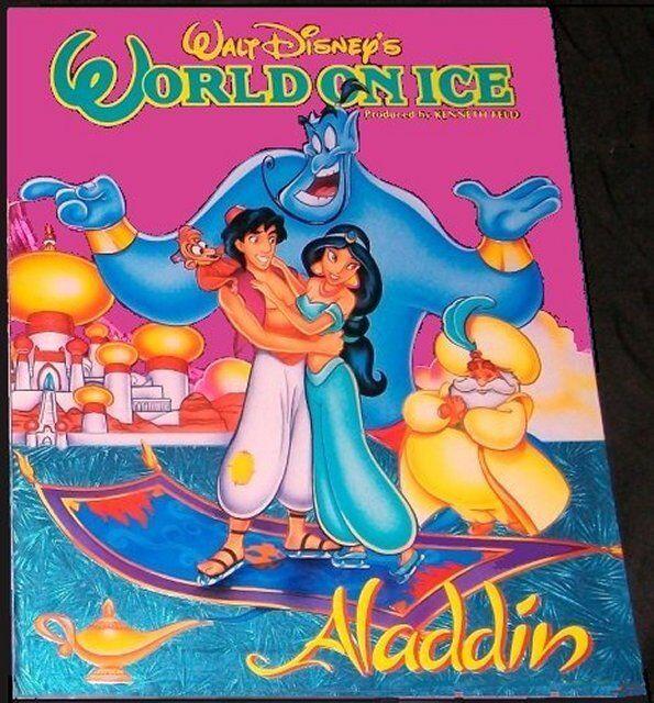 DISNEY WORLD ON ICE ALADDIN C//S of 4 ON CARDS INTACT