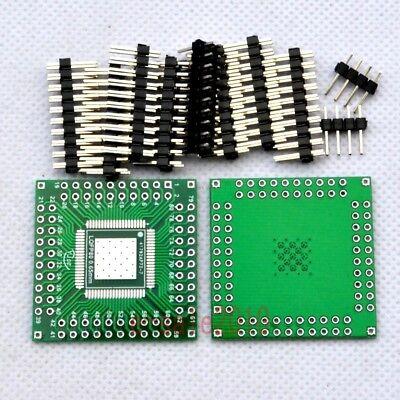 5pcs SMD Qfp/lqfp 80 Pin Pitch 0 65mm to DIP Adapter PCB Board Converter E55