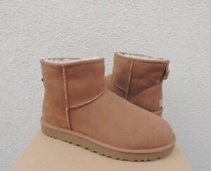 6318baa888dd UGG CLASSIC MINI II 2.0 CHESTNUT WATER-RESISTANT SUEDE BOOTS