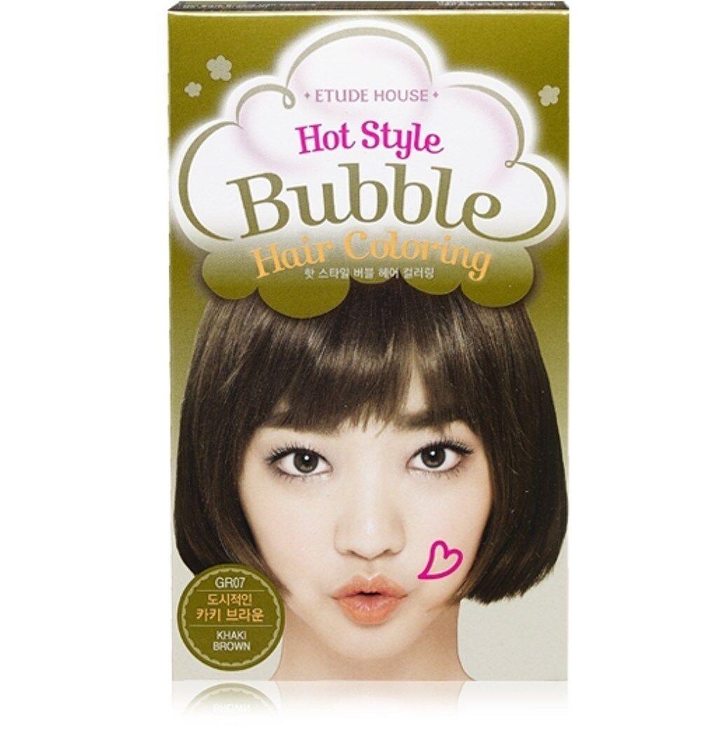 Etude House Hot Style Bubble Hair Coloring Gr07 Khaki Brown Ebay