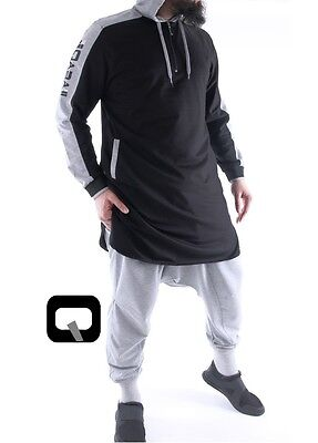 Other Men's Clothing 1 X Oberteil Islamische Bekleidung Qabail Qamis Be Hood Farbe Schwarz Dependable Performance Men's Clothing