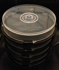 10 Disc Empty CD/DVD/BD-R Spindle Storage Tub/Cake Box - 10 Pack