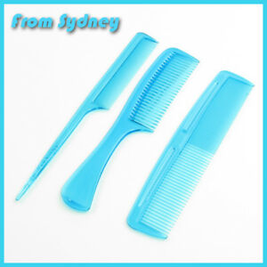 COMBS-Set-of-1-2-3-WOMENS-MENS-BLUE-COLOURED-HAIR-COMB