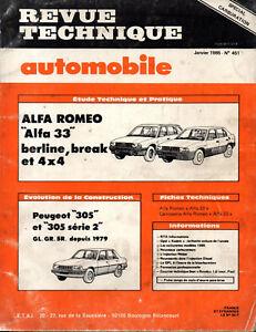 Rta Revue Technique Automobile N° 451 Alfa Romeo 33 Berline Break Et 4x4 Avec Des MéThodes Traditionnelles