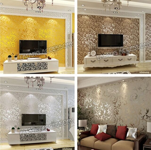 Victorian Damask Luxury Embossed Wallpaper Textured Roll New Design Decor - LD