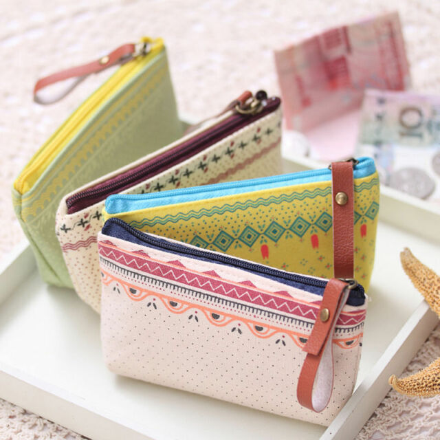 Sweet Women Girls Cosmetic Coin Cellphone Makeup Pouch Bag Purse Wallet