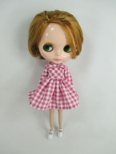 Handcrafted scotch dress outfit miniature for Blythe doll 957-30