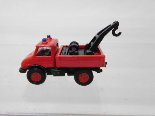 eso-291 IMU 1:160 Unimog Feuerwehr Kranwagen Metallguß sehr guter Zustand