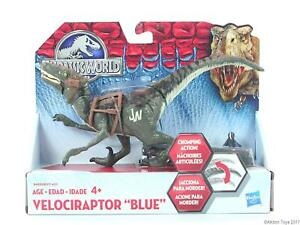 JURASSIC-WORLD-dinosaur-VELOCIRAPTOR-8-034-Bashers-amp-Biters-action-figure-park-NEW