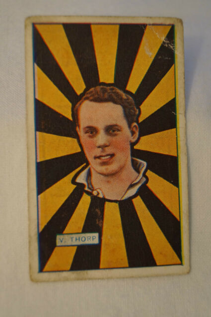 "Richmond - 1921 - J.J Schuh Tobacco Vintage Cigarette Card - V. Thorp. ""Error"""