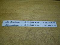 Complete Schwinn Black Sports Tourer Bicycle Downtube Decal Set